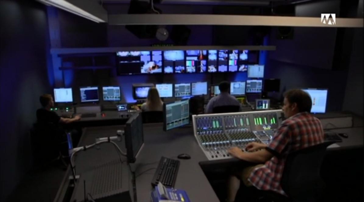 Blick in die TV Regie von Tele M1