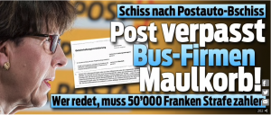 2018.03.09. BLICK.CH. Schlagzeile Post Maulkorb
